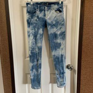 Seven7 Acid Wash Skinny Jeans size 28